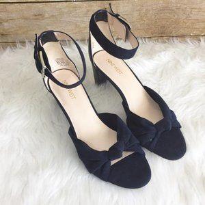 Nine West Navy Nw7purelove Sandals 7.5